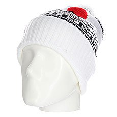 Шапка носок Les Pom Heather Super White/Black