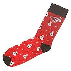 Носки средние Запорожец Снеговик Red/Black
