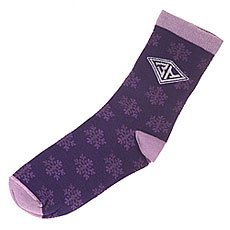 Носки средние женские Запорожец Снежинки Purple