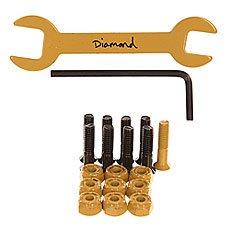 Винты для скейтборда Diamond Sean Malto Pro Hardware Yellow/Black Allen 7/8 (9 x Pack)