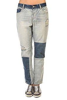 Джинсы прямые женские Roxy Rider Patch Pant Light Blue