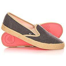 Слипоны женские Roxy Redondo Jute J Shoe Black