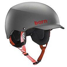 ���� ��� ��������� Bern Snow Eps Team Baker Eps Matte Grey/Cordova Earflaps