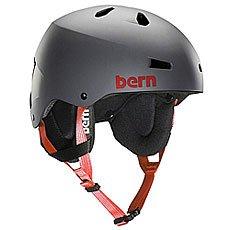 Шлем для сноуборда Bern Snow Eps Team Macon Eps Matte Grey/Cordova Earflaps