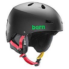 ���� ��� ��������� Bern Snow Hardhat Macon Matte Black Rasta/Black Liner