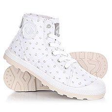 Ботинки высокие женские Palladium Pallabrouse Mid Lp White/Mouse