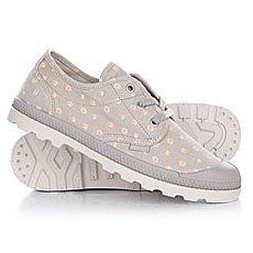 Ботинки низкие женские Palladium Pampa Oxford Lp Tw P Silver Cloud/Creampuff