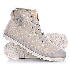 Ботинки низкие женские Palladium Pallabrouse Mid Lp Silver Cloud/Creampuff