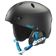 Шлем для сноуборда женский Bern Snow EPS Brighton Matte Black/Black Liner
