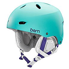Шлем для сноуборда женский Bern Snow EPS Brighton Satin Seafoam Green/Black Liner