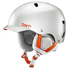 Шлем для сноуборда женский Bern Snow EPS Lenox Satin Delphin Grey/Grey Liner