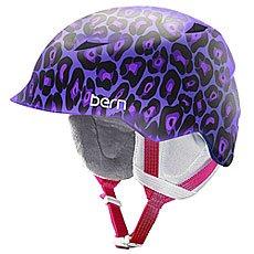Шлем для сноуборда детский Bern Snow Zipmold Camina Satin Purple Leopard/White Liner