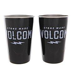 Стакан Mizu Volcom Party Cup Set Glossy Black White Print
