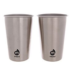 Стакан Mizu Party Cup Set Stainless W Black Print