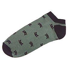 Носки низкие Запорожец Котики Зеленый