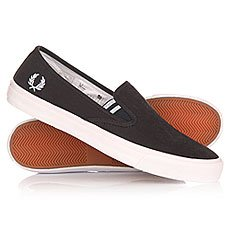 ������� Fred Perry Turner Slip On Brushed Cotton Black