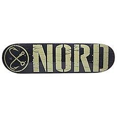 Дека для скейтборда Nord Logo Black/Beige 32.5 x 8.5 (21.6 см)