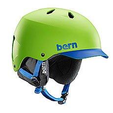 ���� ��� ��������� Bern Watts Matte Neon Green/Blue Brim/Black Liner
