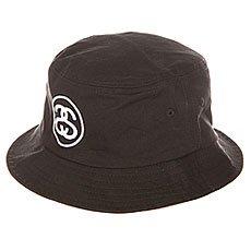 Панама Stussy link Bucket Hat Black