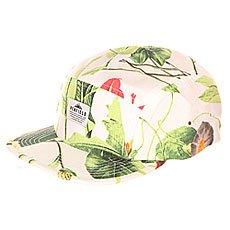 Бейсболка пятипанелька Penfield Casper Botanical Cap White