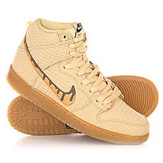 ���� ������� Nike SB Dunk High Premium Gold Star/Classic Brown
