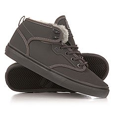 Кеды утепленные Globe Motley Mid Fur Charcoal/Grey
