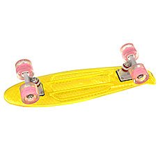 Скейт мини круизер Turbo-FB Cruiser Transparent Yellow 5.75 x 22 (55.9 см)