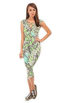 Комбинезон для фитнеса женский CajuBrasil Upvibe Neon Leopard Prints