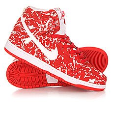 ���� ������� Nike SB Dunk High Premium Red/White