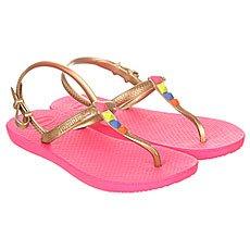 Сандалии детские Havaianas Freedom Pink/Gold