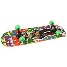 Скейтборд в сборе Turbo-FB Black Rus Mafia Green/Multi 32 X 8.125 (20.6 см)