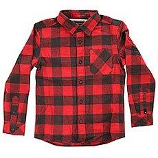 Рубашка в клетку детская Quiksilver Motherflyyouth Motherfly Garnet