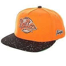 Бейсболка с прямым козырьком TrueSpin Splatter Baller Orange