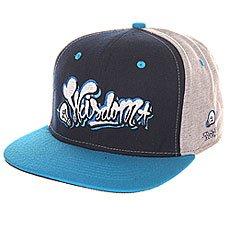 Бейсболка с прямым козырьком TrueSpin Wisdom Strapback Black/Blue