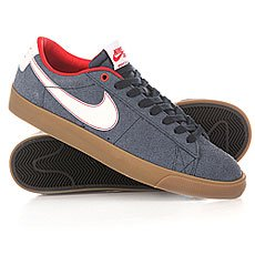 ���� ������ Nike Blazer Low Gt Obsdian White Unversity/Red Lighter