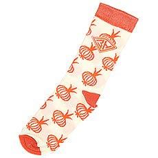 Носки средние женские Запорожец Лук Белый/Оранжевый
