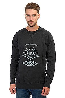 Толстовка свитшот Rip Curl Back To The Search Crew Neck Black