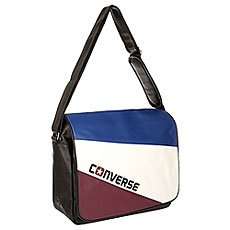Сумка через плечо Converse An Flap Messenger Tricolor Black/White/Blue/Burgundy