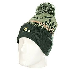 Шапка Запорожец Ditch Kamischi Beanie Dark Green Multi