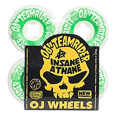 Колеса для скейтборда Oj Team Rider Hard Line Insaneathane White/Green 99A 58 mm