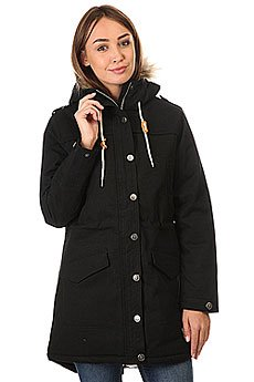 Куртка парка женская Запорожец Ladies Long Parka Black