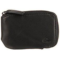 Монетница Quiksilver Half Zip Wallet Black