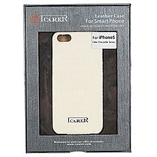Чехол для iPhone 5 Icarer fake crocodile series White