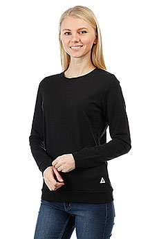 Толстовка свитшот женский Le Coq Sportif Medim Crew Sweat Black