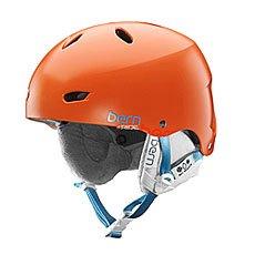 Шлем для сноуборда женский Bern Skate Hardhat Brighton Hh Satin Orange