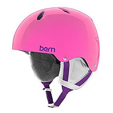 Шлем для сноуборда детский Bern Team Diabla Translucent Pink/White Cordova Earlaps