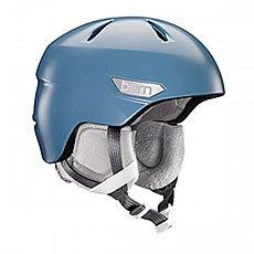 Шлем для сноуборда женский Bern Bristow Satin Atlantic Blue/Grey Canvas Liner