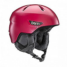 Шлем для сноуборда женский Bern Bristow Satin Cranberry Red/Black Canvas Liner