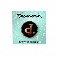 Значок Diamond Un-polo Metal Pins Black Gold