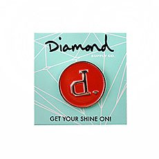 Значок Diamond Un-polo Metal Pins Red Silver